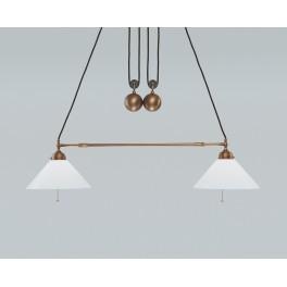 Berliner Messing Zuglampe  ED81-70op B