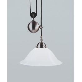Berliner Messing Zuglampe  Ei05-38op N