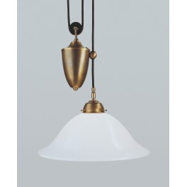 Berliner Messing Zuglampe  Ei04-90op B