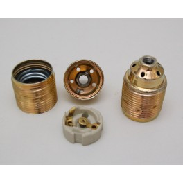 Metall-Fassung E27 Messing